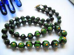 Jewelry Art, Beaded Jewelry, Beaded Necklace, Glass Jewelry, Jewelry Accessories, Handmade Jewelry, Black Choker Necklace, Jewelry Trends, Statement Jewelry