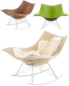 The Stingray rocking chair by Danish designer Thomas Pedersen Wooden Armchair, Danish Design Store, Contemporary Interior Design, Butterfly Chair, Cool Chairs, Sofa Chair, Scandinavian Design, Designer, Furniture Design