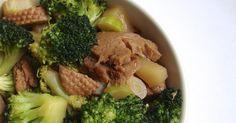 Statt Fisch, gibt es für mich heute Seitan mit Gemüse. Grund? Die Abwesenheit des Hausherrn, der leider wie so oft, geschäftlich...
