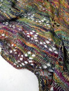 Snow Drops & Snap Peas Shawl by Kirsten Kapur malabrigo Silky en Arco Iris