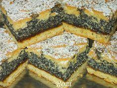 Rozi Erdélyi konyhája: Mákos rácsos Poppy Seed Cookies, Poppy Cake, Hungarian Recipes, Spanakopita, Cake Recipes, Food And Drink, Favorite Recipes, Sweets, Meals