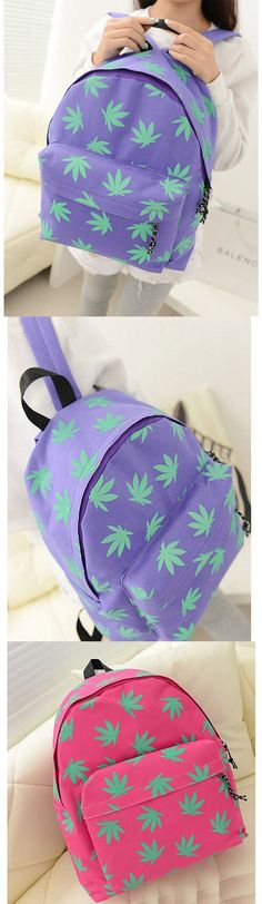 New Fashion Maple Printed Bag Canvas Shoulders Bag backpacks for girls, pink backpack, mini backpack, cool backpacks, backpacks for women, leather backpack, travel backpack, laptop backpack, school backpacks, cute backpacks,