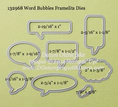 Stampin' Up! Framelits Sizes - DOstamping with Dawn, Stampin' Up! Demonstrator