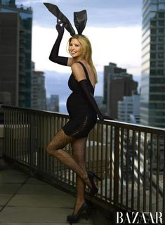 Pop Quiz: Pregnant Ivanka Trump Posing in Playboy Bunny Maternity Costume and Fishnets - The Laughing Stork Ivanka Marie Trump, Ivanka Trump Photos, Ivanka Trump Style, Pregnancy Costumes, Pregnant Halloween Costumes, Pregnancy Outfits, Sugar Baby, Ivanka Trump Pregnant, Playboy Bunny Costume