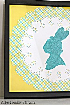 DIY Bunny Silhouette www.eclecticallyvintage.com #12monthsofmartha Make silhouette out of book pages