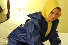 We were able to squeeze a photoshoot before Thanksgiving. I am so glad braved holiday traffic. She is so hot in these suits which are from Grundens, Tingely, and SIOEN. Vinyl Raincoat, Pvc Raincoat, Plastic Raincoat, Yellow Raincoat, Girls Wear, Women Wear, Rain Suit, Hooded Cloak, Rain Gear