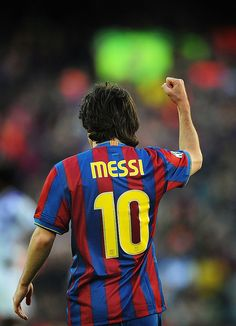BARCELONA, SPAIN - MAY Leo Messi of Barcelona celebrates after he scored Barcelona's fourth goal during the La Liga match between Barcelona and Real Valladolid at Camp Nou stadium on May 2010 in Barcelona, Spain. (Photo by Denis Doyle/Getty Images) Fc Barcelona, Lionel Messi Barcelona, Messi 2009, Lional Messi, Lionel Messi Wallpapers, Karbala Photography, Camp Nou, Cristiano Ronaldo, Leo