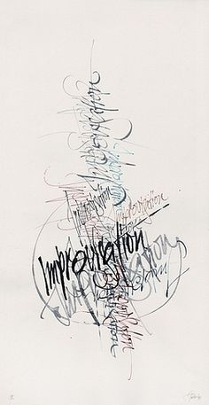 calligraphy by Gottfried Pott