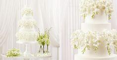 biele orchidey Dendrobium svadobná torta od Peggy Porschen takto možu prevísať aj frézie