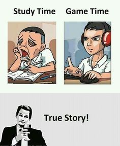 A gamer's life is like. Can't resist their student life. All they imagine is game plot while they are in school. Nothing else and nothing really matters. Student Memes, Student Life, Education Humor, Science Education, Time Games, School Humor, Funny School, School Life, True Memes