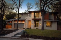 Bowman Residence Front Exterior - contemporary - Exterior - Austin - Cornerstone Architects