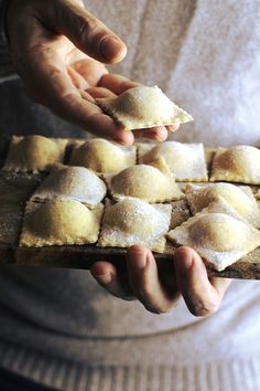 Make homemade ravioli, freeze and give as a gift with sauce