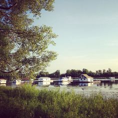 The houseboats on Presque Isle. Erie,PA