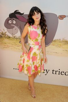 Zooey Deschanel Flower Dress | Zooey+Deschanel+Dresses+Skirts+Print+Dress+p0sIYCEQrE4l.jpg