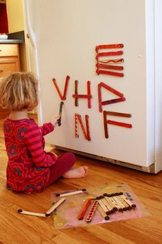 DIY Painted Magnet Sticks for Kids.. Looks like so much fun!