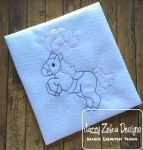 Circus Horse Colorwork Embroidery Design