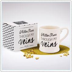 "Image of Mug ""Glitter Runs Through My Veins"""