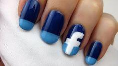 Facebook Logolu Tırnak Süsleme -