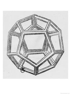 (A) Dodecahedron, from De Divina Proportione by Luca Pacioli, Published 1509, Venice Giclee Print by Leonardo da Vinci at Art.com