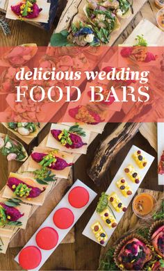 13 Delicious Food Bars for Your Wedding | Martha Stewart Weddings - What's not to love about food bars? Not only will guests love the food, but the presentation is gorgeous too. Check out these 13 savory food bars that are sure to add flavor to your reception.