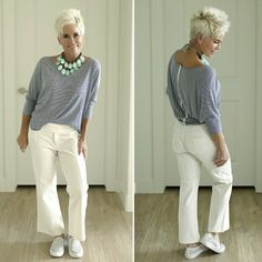 Break It Up (Chic Over 50) http://gurlrandomizer.tumblr.com/post/157397486902/casual-hairstyles-for-short-hair-short #FashionOver50