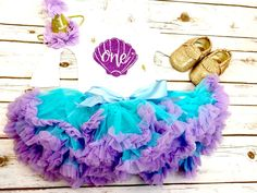 Mermaid Outfit | First Birthday Outfit Baby Girl | Mermaid birthday | Under the Sea Birthday Outfit  | Mermaid 1st Birthday Outfit