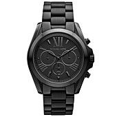 Michael Kors Watch, Women's Chronograph Bradshaw Black Ion Plated Stainless Steel Bracelet 43mm MK5550