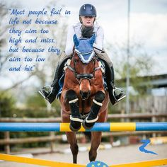 Most people fail in life not because they aim too high and miss but because they aim too low and hit.