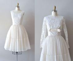 .lace 50s wedding dress / 1950s dress / Mais Oui wedding dress