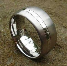 Two Tone Titanium Wedding Ring | LOVE2HAVE in the UK! Matching Wedding Rings, Wedding Matches, Titanium Wedding Rings, Two Tones, About Uk, Jewelry Rings, Rings For Men, Jewelry Making, Silver