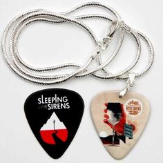 Sleeping with Sirens Two Sided Guitar Pick Silver Necklace Plus Pick in Music, Music Memorabilia, Rock Emo Bands, Music Bands, Grunge, Gothic, Rocker Girl, Love Band, Sleeping With Sirens, Of Mice And Men, Kellin Quinn