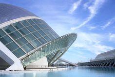 Ciudad de las Artes y las Ciencias, Valencia, Spain. By Santiago Calatrava.