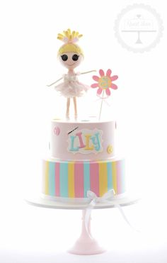 Lalaloopsy cake with topper handcrafted from sugar | Sweet Love Cake Couture, AU