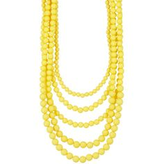 Madison Parker Five Row Beaded Necklace ($20) ❤ liked on Polyvore featuring jewelry, necklaces, chain necklaces, layered chain necklace, multi layered beaded necklace, gold tone necklace and layered necklace