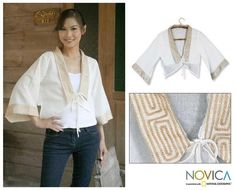 Women's Cotton 'Thai Sophistication' Blouse (Thailand)
