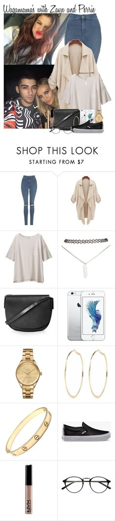 """33. Wagamama's with Zayn and Perrie"" by queenxxbee ❤ liked on Polyvore featuring Topshop, Uniqlo, Wet Seal, Lacoste, River Island, Cartier, Vans, NYX and Dolce&Gabbana"