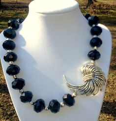 Single strand necklace featuring a stunning silvertone by d3tennis, $45.00