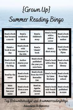 Book List Must Read, Book Club List, Book Lists, Books To Read, Reading Bingo, Reading Club, Summer Reading Program, Summer Reading Lists, Book Challenge