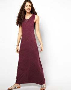 Asos Maxi Dress With Drop Armhole and Stud Detail on shopstyle.com