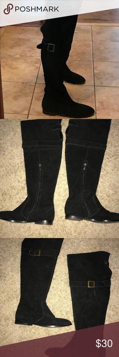 Colin Stuart Black Suede Knee High Boots. Size 7.5 Sexy Knee High Black Suede Colin Stuart boots. Size 7.5 Colin Stuart Shoes