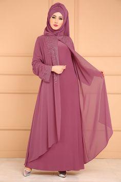 ** YENİ ÜRÜN ** Hırka Görünümlü Taşlı Abiye Gül Kurusu Ürün kodu: SMT1020 --> 169.90 TL Abaya Fashion, Muslim Fashion, Fashion Dresses, Hijab Evening Dress, Hijab Style Dress, Hijab Fashionista, Abaya Designs, Islamic Clothing, Couture