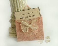 4 Will You Be My Bridesmaid Mini Pink by TheRecycledRuffle on Etsy, $14.00