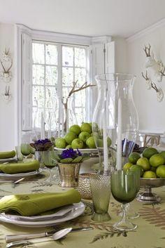 Easy Entertaining with an Instant Table - Juliska Octavia Dinnerware, Capucine Green Medium Tumblers;
