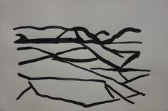 Islossning, tusch, 38x56cm Bo Ljungcrantz
