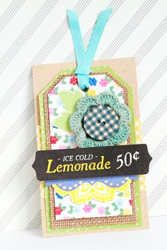 Decorative tags using Mayberry! From the American Crafts Studio Blog.