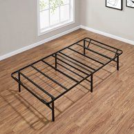 Spa Sensations By Zinus Steel Smartbase Bed Frame Black Twin Walmart Com Steel Bed Frame Bed Frame Mattress Metal Platform Bed