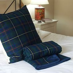 Conjunto manta y cojin Escoces - escoces verde - manta verde - cojin verde - regalo padre - wikipillow - 100x150 - 50x50cm. WIKI PILLOW