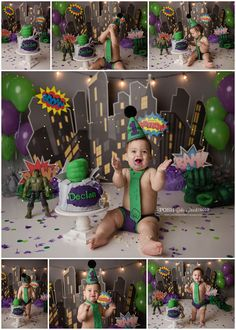 Naturally Posh is a photography studio that specializes in Maternity, Newborn, Family, and Children. Hulk Birthday Cakes, Hulk Birthday Parties, Smash Cake First Birthday, 1 Year Old Birthday Party, Birthday Morning, 1st Birthday Party Themes, Boy First Birthday, Birthday Ideas, Aladdin Cake