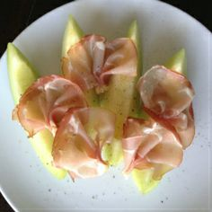 Meloen met ham  ♥ Foodness - good food, top products, great health