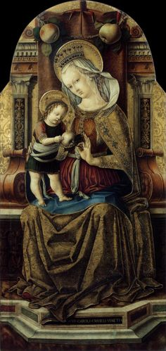 "Carlo Crivelli ""Virgin and Child Enthroned"" (1476) Museum of Fine Arts, Budapest"